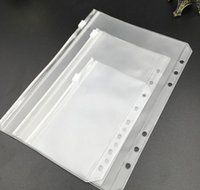 quality student A5 A6 A7 PVC Binder Cover Clear Zipper Storage Bag 6 Hole Waterproof Stationery Bags Office Travel Portable Document Sack