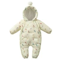 Baby Rompers Winter Newborn Down Coat Bodysuits Infant Babies Clothes Girls Boys Jumpsuit Hooded Kids One Piece Clothing Toddler Outwear Gloves Shoes Suits B8780
