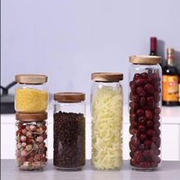 Storage Bottles & Jars Household Glass Tea Round Lid Coffee Confectionery Food Cereal Box Kitchen Tank