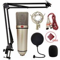 Kayıt U87 Kondenser Profesyonel Mikrofon Bilgisayar Canlı Vokal Podcast Oyun Stüdyosu Şarkı