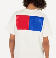 Nuove lettere di arrivo Geometriche stampate t-shirt moda estate Estate traspirante Tee Casual Uomo Donna Street Street Manica Abbigliamento S-2XL