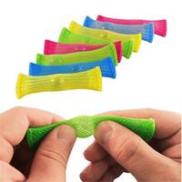 Auf Lager Mesh Marmor Zappeln Spielzeug squezable geflochtene Mesh-Röhre und Marmorkugelspannungsangst ADHD Relief Pop Blase beruhigende sensorische H22201