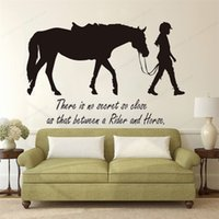 There's No Secret Girl So Close as that between a rider and horse quote wall decal horse wall sticker vinyl JH217 210310