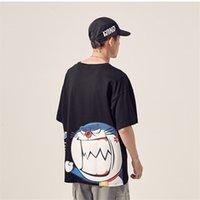 2021 Yeni 5XL Hip Hop Doraemon T Camisa Masculina Japon Streetwear Harajuku Casual Manga Curta Boy Tops Vero Japo Tişörtleri J7NN