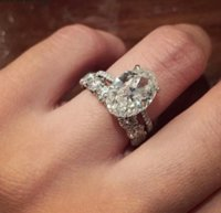 Bridal set 925 Sterling silver 3ct Sone 5A zircon Engagement Wedding Band Rings For Women Finger Jewelry dff3070
