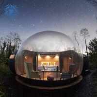 야외 렌탈 캠핑 투명 투명 팽창 식 크리스탈 거품 텐트 / 풍선 버블 돔 텐트 터널