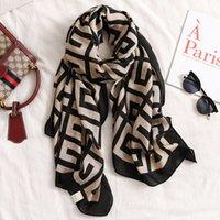 Coreano cálido invierno chal impresión de algodón cáñamo multifuncional seda bufanda alta versión estilo extranjero