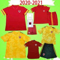 Yetişkin + Çocuk Kiti 2021 Galler Futbol Forması 20 21 22 Çocuk Futbol Gömlek 2022 Erkek Balya Maillot De Foot Ramsey Kırmızı Sarı Çocuk Fanlar oyuncu versiyonu