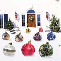 23,6 tums utomhus jul uppblåsbara dekorerade boll av pvc jätte träd dekorationer semester inredning bwa9628