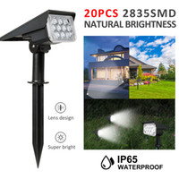20LED Adjustable Solar Spotlight Solar Garden Light IP65 Sup...