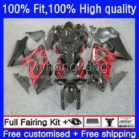 Injection Mold Fairings For SUZUKI GSXR 1000 CC 1000CC 2007-2008 Bodys 27No.17 GSX-R1000 GSXR1000 K7 07 08 GSXR-1000 GSXR1000CC 2007 2008 OEM Red flames hot Bodywork