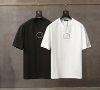 Verão Moda Mens T-shirt Clássico Preto Branco T-shirt em volta do pescoço solto encaixe sem mangas homens tops respirável confortável e roupas