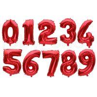 Helio globo 32 pulgadas oro letra número de aluminio globos globos helio globos de cumpleaños decoración de cumpleaños boda aire globo folleto suministros r4147