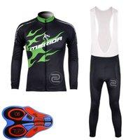 Merida Team Bike Bike Mens Cycling Manica lunga Jersey Bib Pants Sets MTB Bike Uniform Bicycle Outfit per biciclette Abbigliamento sportivo all'aperto S101403