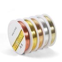 1 لفة 0.2-1.0 ملليمتر جودة عالية اللون الحفاظ الأسلاك النحاسية الديكور الحبل سلسلة النتائج diy سلسلة للمجوهرات صنع jllitz