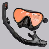 New snorkeling breathing tube set swimming goggles adult silicone diving mask coated lens