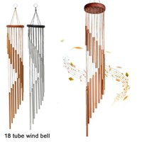 Decorative Objects & Figurines 18 Tubes Wind Chimes Metal Bells Nordic Classic Handmade Ornament Garden Patio Outdoor Wall Hanging Home Deco