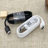 100% Hakiki Orijinal S8 USB Tip-C 1.2 M Hızlı Saming Veri Sync Kablosu Samsung S8 9 Not 7 8 S10