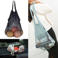 Hanging Baskets Kitchen Fruits Vegetables Bag Reusable Grocery Produce Bags Cotton Mesh Ecology Market String Net Shopping Tote