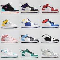 Çocuklar Merhaba OG BİTKİLER MOCHA Travis Scotts Basketbol Ayakkabı Çocuk Jacks 1 S Toddler Yıldönümü D X AJS1 I MID PJ Tucker Kim Jones Sneaker