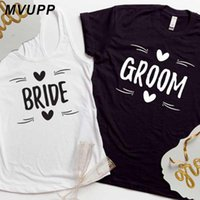 Women's T-Shirt Plus Size White Husband Wife Clothes Women And Me Family Matching Clothing Ulzzang Friends BRIDE GROOM Couple T Shirt For Lo