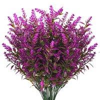 Fiori decorativi ghirlande fiore artificiale fiore plastica lavanda falso pianta casa casa decorazione giardino bouquet da sposa Pografia HWD8243