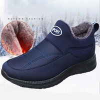 Cycling Footwear Men Winter Safety Shoes Warm Boots Fashion Male Working Mans Sneakers Plush Furry