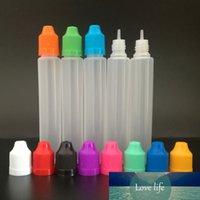 100 шт. 30 мл / 60 мл LDPE пластиковая сжимаемая ручка типа капельница Электрическая чернила, детская крышка длинного тонкого наконечника