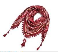 Écharpes YLWHJJ FEMMES AUTOMNE HIVER Echarpe Triangle à imprimé de mode pour dames tricotés Tassel Tassel Femelle