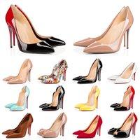2021 красные нижние каблуки с коробкой пыли сумка женские одежды обувь круглые острые пальцы ног на днище шипы винтажные высокие каблуки роскоши дизайнеры кроссовки