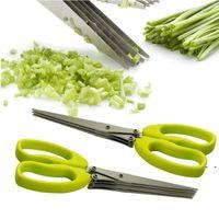 Scissors de Aço Inoxidável Cozinhar Ferramentas Acessórios de Cozinha Facas Tesousores Sushi Shredded Scallion Cut Herb Especiarias Scissors DHB5428