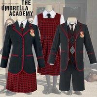 The Umbrella Academy Girls School Uniform Vanya Allison Cosplay Costume Halloween Carnival Party Dress Suits For Women Men G0913