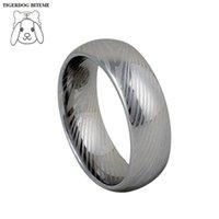 Bagues de carbure de tungstène de 8mm de 8mm pour hommes bijoux de doigt bijoux Damascus bijoux en acier ne disparaissant jamais Alliances de mariage