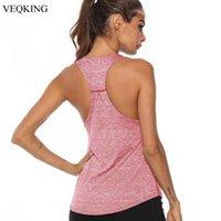 Yoga Outfits VEQKING Sleeveless Racerback Vest Sport Singlet Women Athletic Fitness Tank Tops Gym Running Training Shirts