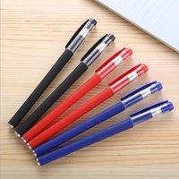 Gel carbon water-based pen 0.5mm European standard bullet nib black office signature pen office student exam frosted ballpoint pen