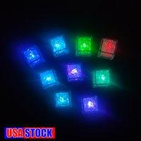 Wasserdichte LED Eiswürfel 7 Farbe blinkende Glühen in der dunklen Nachtlichter für Cafe Bar Club Trinkpartywein Hochzeit Dekoration USA