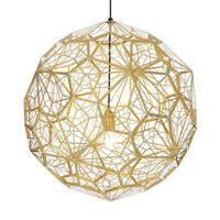 Wongshi Moderne Eisen Metall Web Ätz Edelstahl Pendelleuchten Runde Diamantball-Projektion Pendelleuchte für Designer