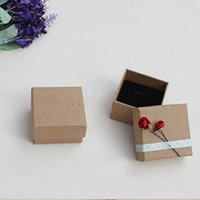 Jewelry Pouches, Bags 20pcs With Lids Gifts Display Necklace Small Brown Holder Storage Exquisite Box Ring Package Case Paper Vintage