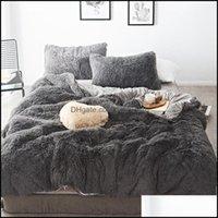 Bedding Supplies Textiles Home & Gardenbedding Sets 45 Pure Color Mink Veet 20 Colors Lambs Wool Fleece Flat Sheet Duvet Er Fitted Queen Kin