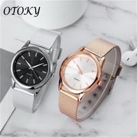 Designer luxo marca relógios omen ouro preto magnético aço inoxidável malha banda montre femme diamante pulseiras relogio feminino