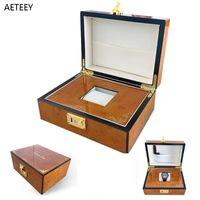 Boîtes de montre Caisses Tourbillon Cadeau Boîte de retraite en bois Haut-dettes Hommes de luxe Collection de luxe Porte-bande