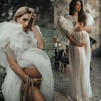 Ruffles Cap Sleeve Evening Dresses 2021 Plus Size Women Pregnant Party Sleepwear Maternity Photoshoot Gowns vestido de novia