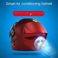 Motorcycle Helmets Smart Bluetooth Capacete De Moto Four Seasons Helmet Summer Fan Solar Open Face Vintage Helm