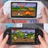 X12 Handheld Game Players 8GB Memory Portable Video Game Consoles 5.1 inch Support TF Card 32gb MP3 MP4 5 Player black white colors