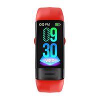 Pasometre 20 * 43mm Dial Mens Bayan Saatler EKG Band Elektrokardiyogram Kan Basıncı Uyku Monitörü Akıllı İzle Bluetooth Çağrı Mesaj Hatırlatma Bilezik
