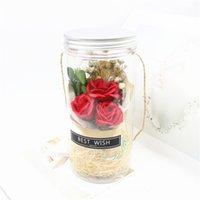 Savon rose tavon fleur fleur fleur plastique fleur artificielle Valentines Saint Valentin fête de Noël cadeau de Noël 18 v2