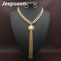 Collana orecchini 2 colori Set di gioielli in acciaio inox Supernova Vendite per le donne SFGFALCD