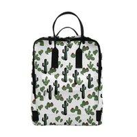 배낭 선인장 및 꽃 인쇄 3D 배낭 남자 여자 학교 가방 멀티 포켓 여행 가방 십대 노트북 어깨