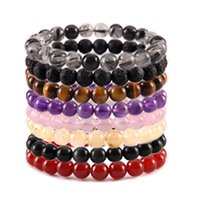 8mm Natural Crystal Stone Strands Beaded Yoga Energy Charm Bracelets For Women Girl Handmade Fashion Party Club Jewelry