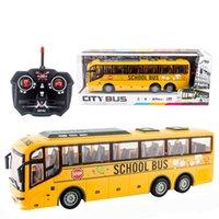130 27 ميجا هرتز rc سيارة كهربائية كبيرة التحكم عن بعد مع ضوء محاكاة مدرسة مدينة السفر حافلة نموذج لعب للأولاد الأطفال